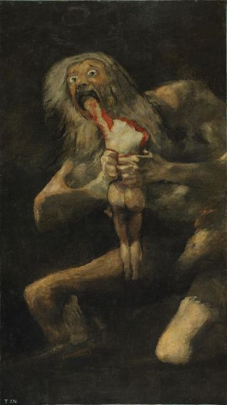 Francisco de Goya's Saturn Devouring His Son